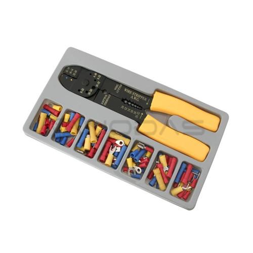 Įrankio rinkinys laidų izoliacijos nuėmimui ir antgalių užspaudimui 45050