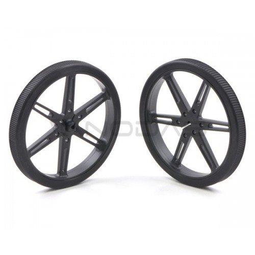 Pololu wheels 80x10mm black 2 pcs.