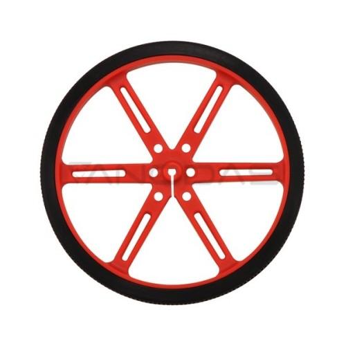 Pololu ratai 90x10mm raudoni - 2 vienetai