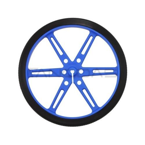 Pololu ratai 80x10mm mėlyni - 2 vienetai