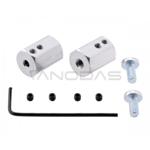 Pololu Hex Wheel adapter 12mm/3mm 2 pcs.