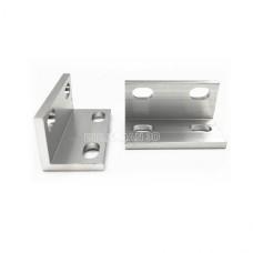 L sujungimas aliuminio profiliams dvigubas - sidabrinis