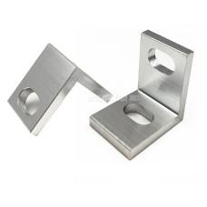L sujungimas aliuminio profiliams viengubas - sidabrinis