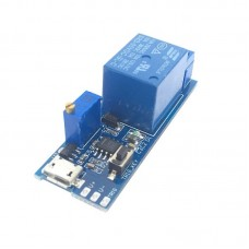 Relay module with timer - 0-19 seconds 5-8V Micro USB Power