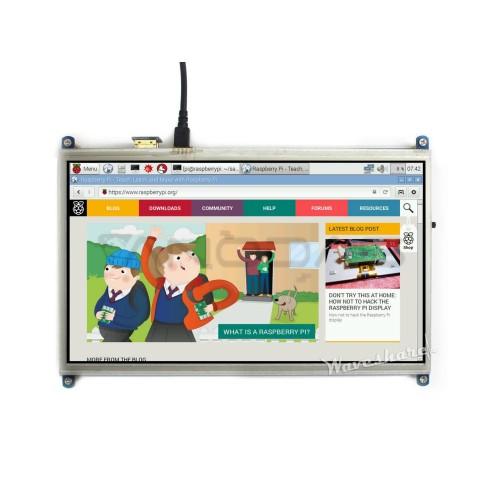 "Raspberry Pi liečiamas ekranas 10,1"" LCD TFT (1024x600px) - HDMI + GPIO"