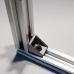 Kampinis laikiklis skirtas 2020 aliuminio profiliams - sidabrinis
