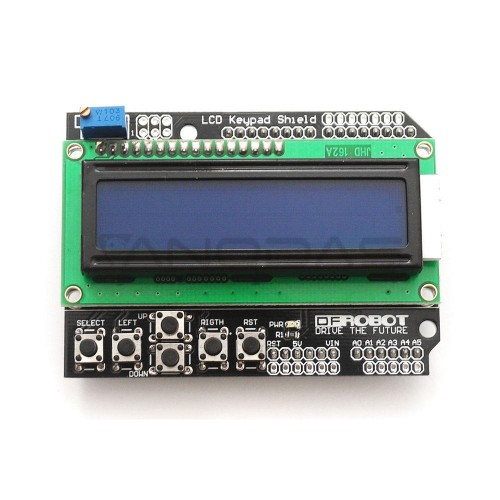 16x2 LCD screen with keyboard