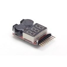 1S-8S Lipo Baterijų Testeris