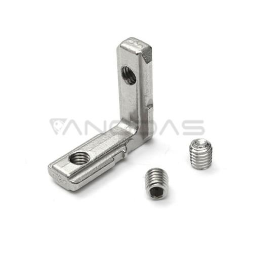 Vidinė L formos jungtis 2020 aliuminio profiliams - sidabrinė