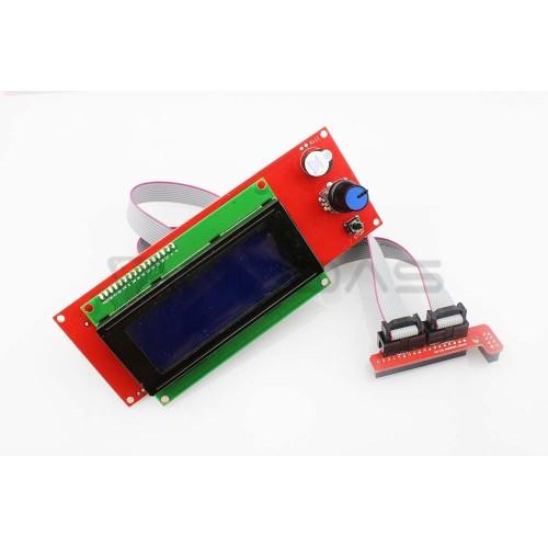 20x4 LCD ekranas kontroleris RepRap Ramps 1.4 priedėliui