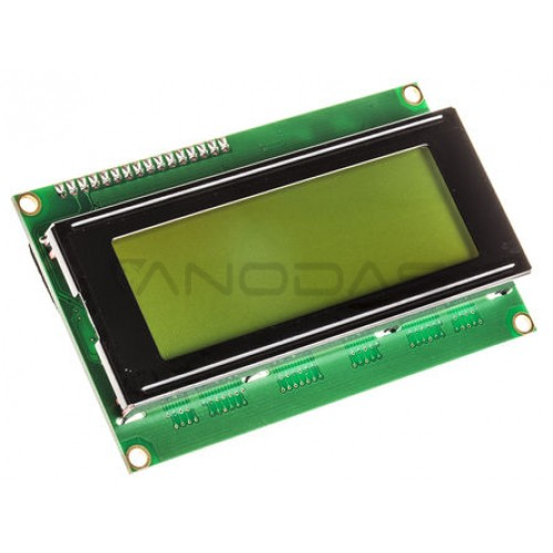 20x4 LCD display (green)