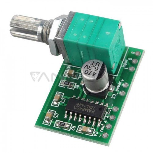 2x3W PAM8403 Digital Power Amplifier Board with Volume Control