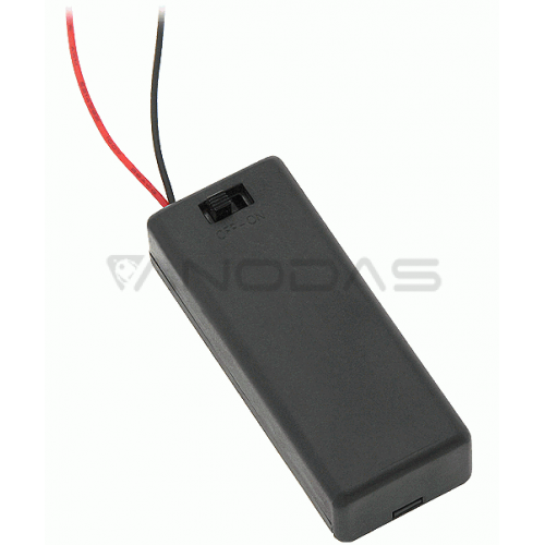 2xAAA battery case with switch