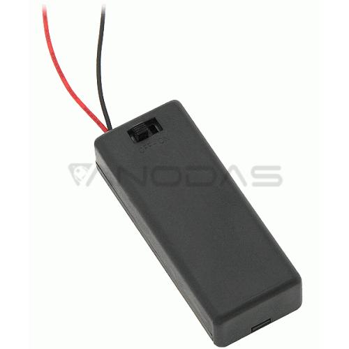 2xAAA baterijų laikiklis su jungikliu