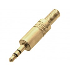 Plug - 3.5 mm - stereo gold