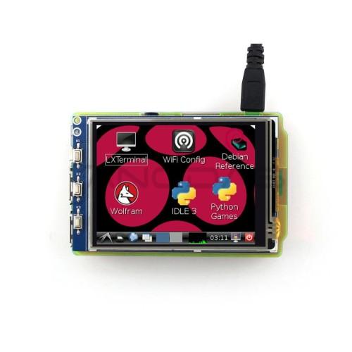 Waveshare varžinis lietimui jautrus ekranas Raspberry Pi mikrokompiuteriui - LCD TFT 3.2