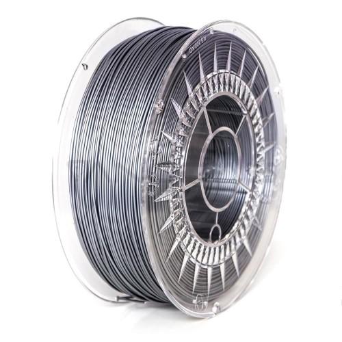 3D plastikas Devil Design PLA 1.75mm 1kg - Aluminum