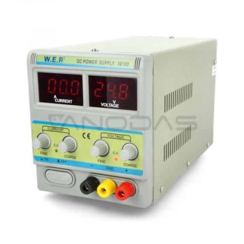 Laboratorinis maitinimo šaltinis WEP 3010D 30V 10A