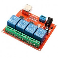 4 Channel 12V Programmable Relay with USB