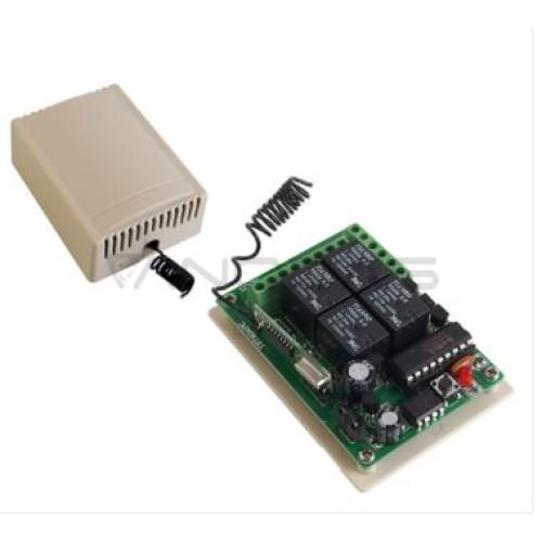 4 kanalų relė 12VDC 433 Mhz