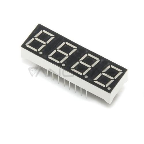 4 skaičių 7 segmentų LED modulis raudonas