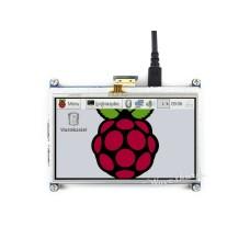Waveshare varžinis lietimui jautrus ekranas Raspberry Pi mikrokompiuteriui - LCD TFT 4.3
