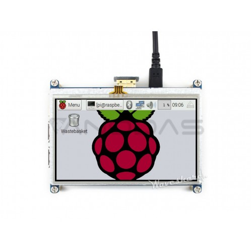 "Raspberry Pi 4.3"" Resistive Touch Screen (480x272px) - HDMI + GPIO"