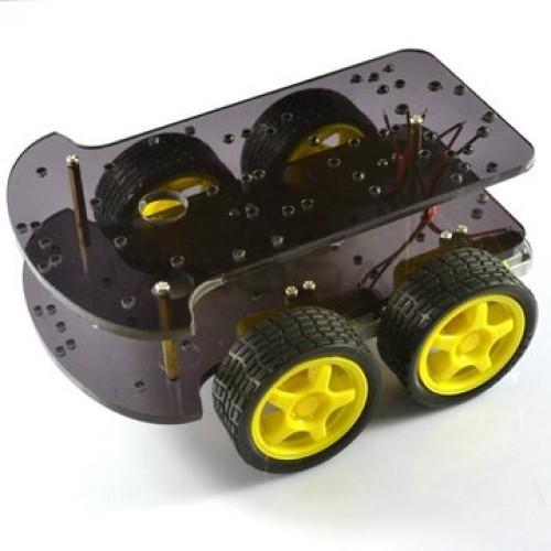 4WD Arduino roboto važiuoklės rinkinys