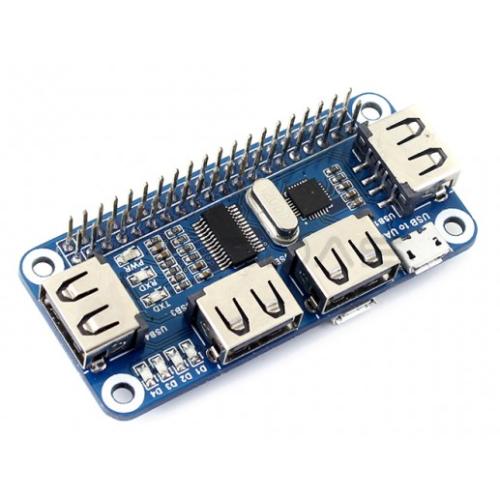 4xUSB Hub Hat - Raspberry Pi 3/2/Zero Priedėlis
