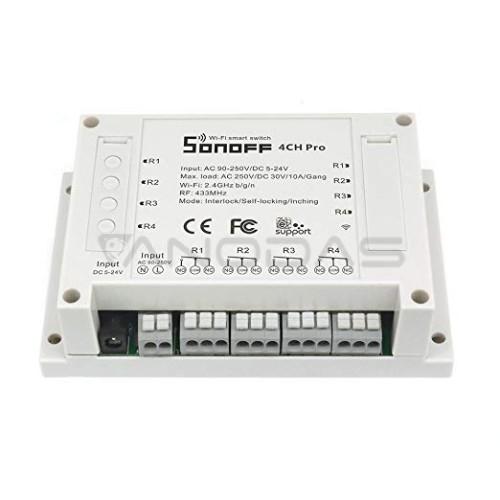 Sonoff PRO R2 4-kanalų išmani relė valdoma WiFi + RF - 230VAC 2200W