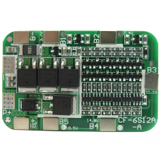 Li-ion Lithium Battery 18650 Charging and protection Board 6S 12A