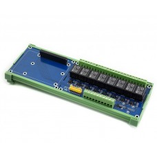 Waveshare Relay Hat for Raspberry Pi - 8 relays with optoisolation - 5A / 250VAC / 30VDC contacts - 5V