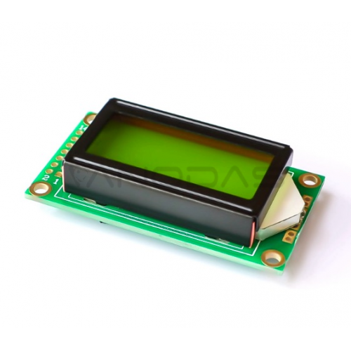 8x2 LCD ekranas - žalias