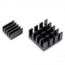 Set of 2x heat sinks with thermoconductive tape - black