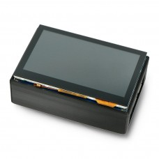 Capacitive touch screen LCD 4.3'' 800x480px DSI with a protective housing, for Raspberry Pi, Waveshare 18645