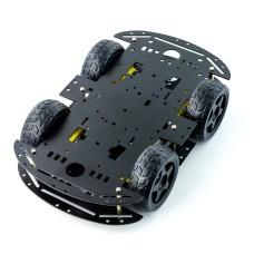 Roboto važiuoklė 4WD su nuolatinės srovės varikliu - juodas