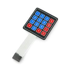 4x4 self-adhesive membrane keypad - 16 keys
