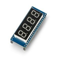 4x 8 segmentų ekrano modulis, raudonas, SPI, skirtas Raspberry Pi Pico, Waveshare 19806