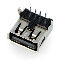 A tipo USB lizdas - THT