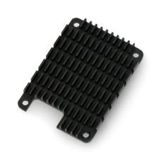 Aliuminis radiatorius, skirtas Raspberry Pi Compute Module 4 su šilumai laidžia juosta, juodas