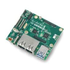 Dviejų Gigabit Ethernet Carrier plokštė, skirta Raspberry Pi Compute Module 4, Seeedstudio 102110497