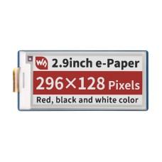 "E-Paper E-Ink ekranas 2.9"" 296x128px, SPI, 3 spalvų, skirtas Raspberry Pi Pico, Waveshare 19607"