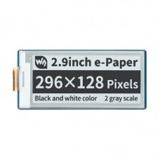 Display E-paper E-Ink, 2.9'' 296x128px, SPI, black and white, for Raspberry Pi Pico, Waveshare 19408