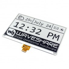E-paper E-Ink 7.5'' 800x480px, display with HAT pad for Raspberry Pi, Waveshare 13504
