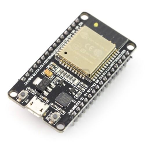 ESP32 WiFi + BT 4.2 - platforma su moduliu ESP-WROOM-32, suderinama su ESP32-DevKit