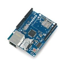 Ethernet priedėlis W5100, skirtas Arduino, su microSD kortelių skaitytuvu