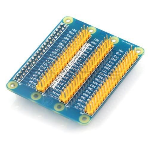 Raspberry PI 4/3/B+/2 GPIO išplėtimo plokštė E1 - mėlyna