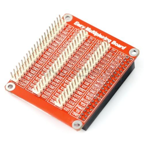 Išplėtimo kaiščiai GPIO priedėlis - skirtas Raspberry Pi 3/2/B+ - raudonas