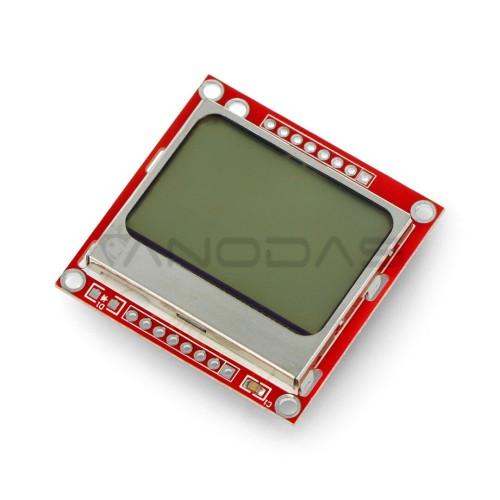 LCD grafinis ekranas 84x48 px, Nokia 5110, mėlynas, SparkFun LCD-10168