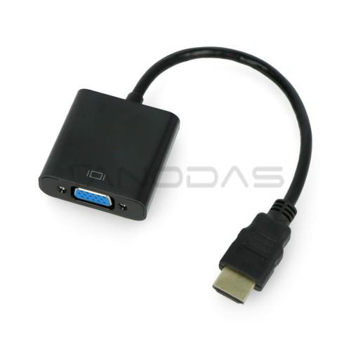 HDMI į VGA + garso keitiklis HD31A su laidu